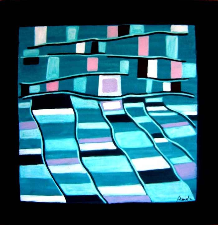 Espejismo de noche – 100 x 100 cm – Oleo
