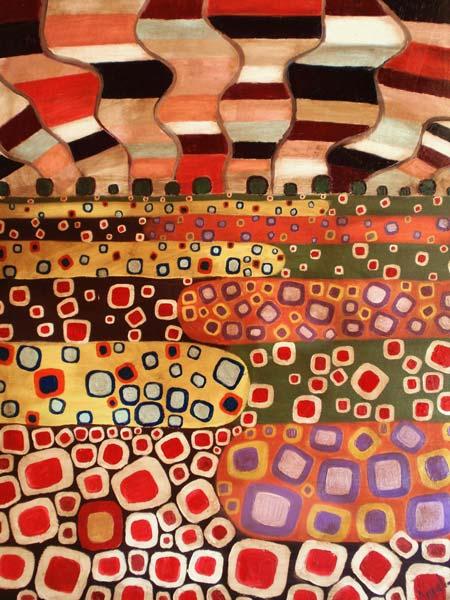Espejismo neomodernista en el campo – 89 x 116 cm – Oleo