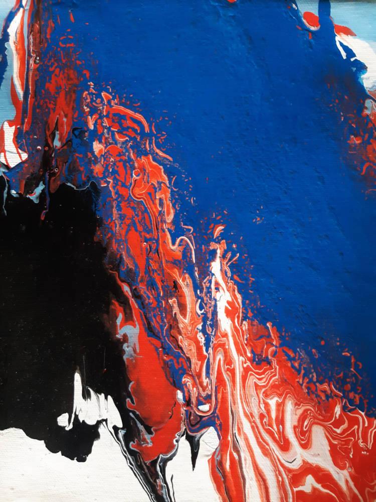 Blue fire - 30 x 20 cm