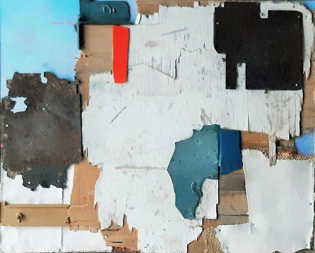 Abstracto amanecer 50 x 30 cm